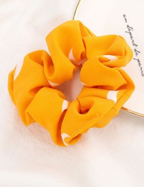 Fashion Yellow Moon Printed Cloth Hair Ring