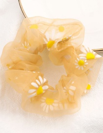 Fashion Yellow Small Daisy Printed Elastic Bowel Hair Band