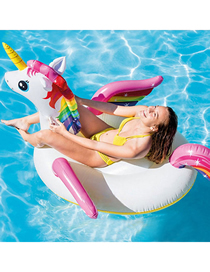 Fashion Color Little Unicorn Water Animal Inflatable Mount