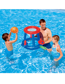 Fashion Color Inflatable Water Play Pool Swimming Net Ball Shooting Toy