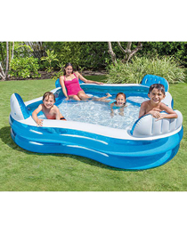 Fashion White Inflatable Swimming Pool With Backrest Seats