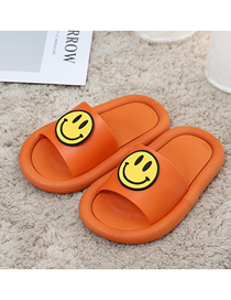Fashion Caramel Coffee Children's Sandals And Slippers With Soft Face And Smile
