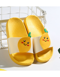 Fashion Lemon Fruit Animal Contrast Color Soft Bottom Slippers