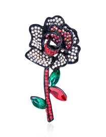 Fashion Colour Alloy Brooch With Flower