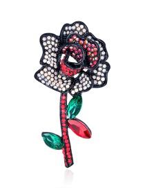 Broche De Aleación Con Flor