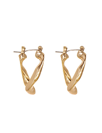 Fashion Golden Alloy Geometry Earrings