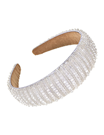 Fashion White Cloth Mizhu Hairband