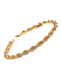 Fashion Golden Alloy Chain Headband