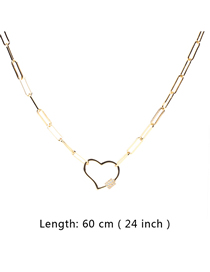 Fashion 60cm Diamond Necklace With Love Buckle