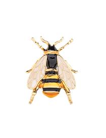 Fashion Yellow Enamel Glaze Alloy Bee Brooch