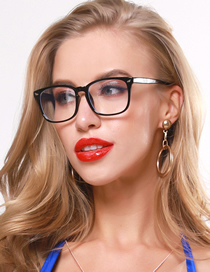 Fashion Black Meter Nail Flat Mirror Glasses Frame