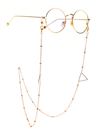 Fashion Triangle Triangle Geometry Color Retention Beaded Glasses Chain