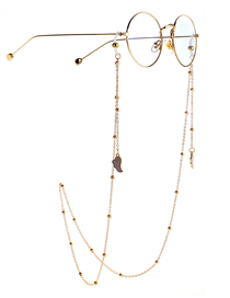 Fashion Pink Eyeglasses Chain With Dripping Wings And Color Retention Clip