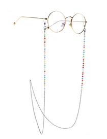 Cadena De Cristal De Acero Inoxidable Que Retiene El Color De La Cadena De Gafas Antideslizantes