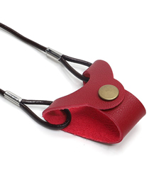 Fashion Red Imitation Leather Solid Color Glasses Lanyard