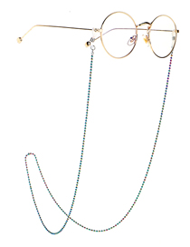 Fashion Color Multicolored Beads Are Not Easy To Fade Anti-skid Glasses Chain