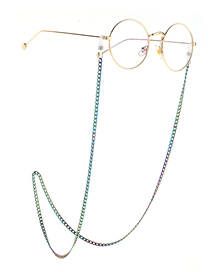 Fashion Thick Chain Multicolored Beads Beads Anti-skid Glasses Chain