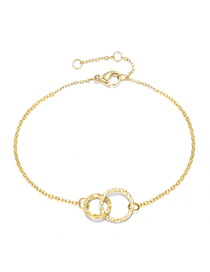 Fashion 14k Gold Hollow Cross Circular Chain Adjustable Bracelet