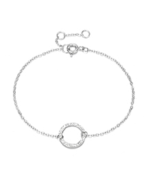 Fashion Steel Color Hollow Round Adjustable Chain Bracelet