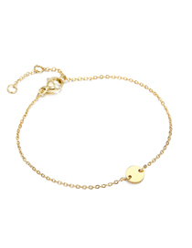 Fashion 14k Gold Small Round Adjustable Chain Bracelet