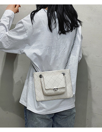 Fashion White Chain Embroidery Thread Shoulder Bag