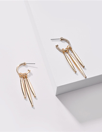 Fashion Golden Alloy Geometric Tassel Earrings