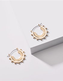 Fashion Golden Geometric Semicircular Snail Alloy Earrings