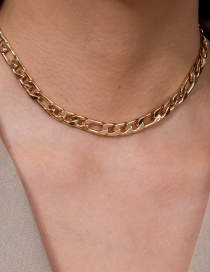 Fashion Golden Chain Alloy Single Layer Necklace