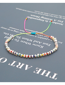 Fashion Color Mixing Rice Beads Hand-woven Natural Freshwater Pearl Bracelet