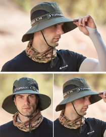 Fashion Armygreen Splicing Contrast Color Foldable Fisherman Hat