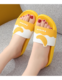 Fashion Yellow Banana Fruit Hit Color Non-slip Indoor And Outdoor Bath Slippers (the Shoe Size Is One Size Smaller)