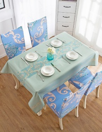 Fashion European Style Blue (140 * 180cm Without Chair Cover) Printed Dustproof And Waterproof Household Tablecloth