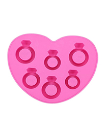Fashion Pink Diamond Ring Silicone Ice Mould