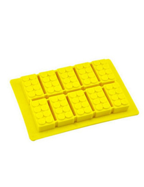 Fashion Yellow Silicone Building Blocks Chocolate Ice Mould