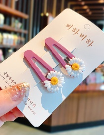 Fashion White Resin Small Daisy Hit Color Alloy Children Hairpin Set