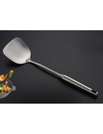 Fashion Stir Fry Hollow Handle Frying Spatula Colander Sanded Stainless Steel Kitchenware
