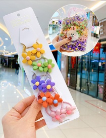 Fashion Xuanya Flowers 10 Bags Candy Animal Fruit Flower Contrast Elastic Hair Rope