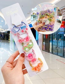 Fashion 10 Bags Of Underwater Animals Candy Animal Fruit Flower Contrast Elastic Hair Rope