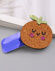 Fashion 1 Orange Sequined Fruit Contrast Color Geometric Hairpin