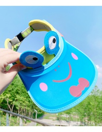 Fashion Blue Frog 2 Years Old-12 Years Old Animal Color Stitching Adjustable Children S Sun Hat (45cm-60cm)