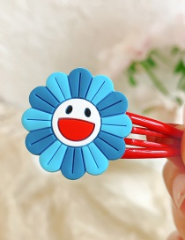 Fashion Blue Flowers Flower Animal Hit Color Alloy Rubber Children Hairpin
