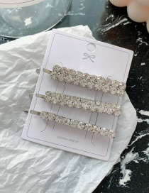 Fashion A1 Geometric Hairpin With Rhinestone And Pearl Alloy
