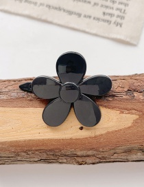 Fashion Little Black Flower Resin Flower Love Heart Shape Hollow Hairpin