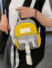Fashion Yellow Color-block Nylon Backpack