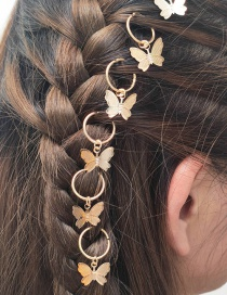 Fashion Gold Color Geometric Butterfly Alloy Hair Accessory