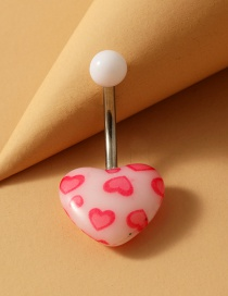 Fashion Love Pink Stainless Steel Turquoise Alloy Resin Belly Button