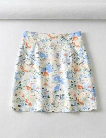 Falda Estampada Con Pintura Al Óleo (con Pantalones De Seguridad)