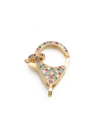 Fashion Color Zirconium Keychain Micro Inlaid Color Zirconium Key Ring Alloy Accessories