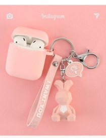 Fashion Pink Rabbit + Headphone Bag Geometry Dinosaur Apple Wireless Bluetooth Headset Silicone Case