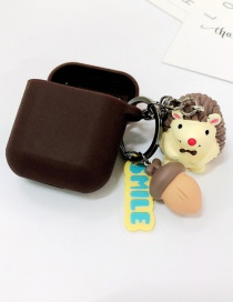 Fashion Coffee + Coffee Earphone Set (2nd Generation) Hedgehog Apple Wireless Bluetooth Headset Silicone Case